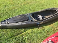 Black and gray car 12 foot fishing kayak comes with paddle. Stroudsburg, 18360
