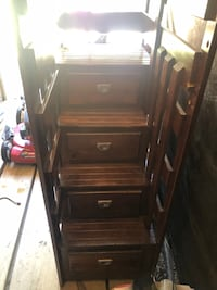 stairs and drawers chest for bunk bed