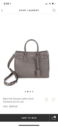 100% new YsL saint Laurent sac de jour baby size grey color Vaughan, L6A