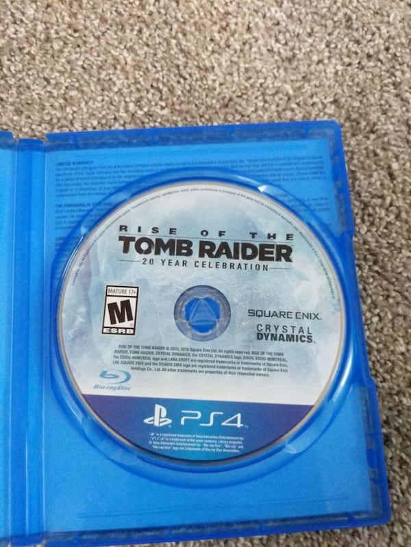 Used Rise Of The Tomb Raider 20 Year Celebration Ps4 Game For Sale