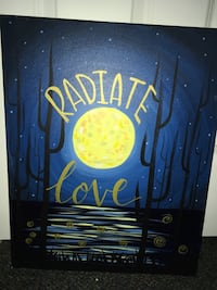 """Radiate Love"" painting"