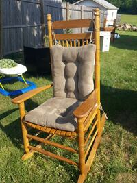 brown wooden gray padded armchair Shippensburg, 17257
