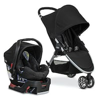 New Britax B-Agile 3/B-Safe 35 Travel System black Ajax, L1Z