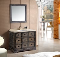 Solid Wood Full Set Bathroom vanity ANAHEIM