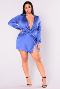New Plus size Blue Sugar free Dress