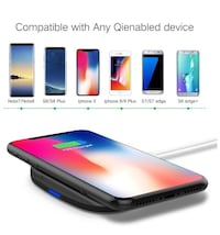 Fast Wireless Charger,SHiQiMA Qi Wireless Charger pad for iPhone X iPhone 8 Samsung Galaxy S8+ S8 Note8 S7 S7edge S6 Nexus 4/5/6 Nokia Lumia 1020 and All Qi-Enabled Devices Piscataway, 08854