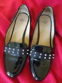 Size 7.5 Zara shoes, black with silver studs. Hamilton, L8R 1T7