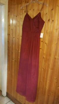 NEW Red Burgundy Cocktail Dress Evening Gown New York