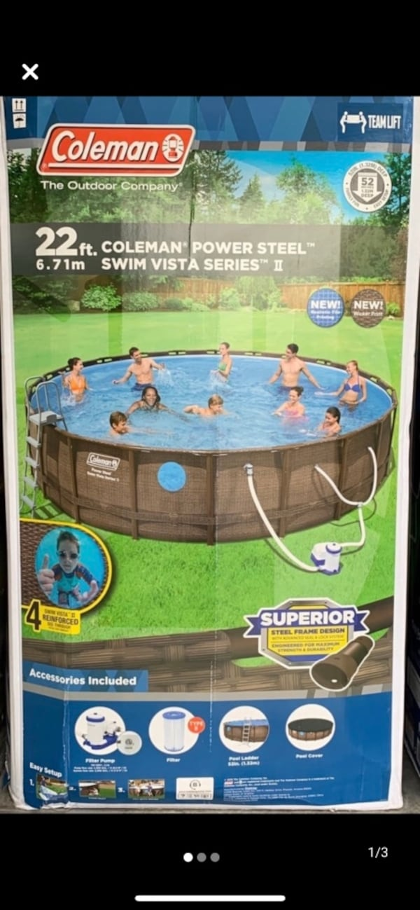 Above ground swimmimg pool with all accesories 77986e16-1b36-4c00-adc1-4a4f47ee9243
