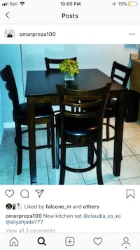 Brand new kitchen table and four chairs Mississauga
