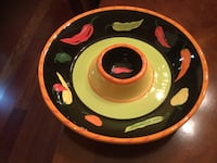 Salsa /chips plate . Excellent condition. Chantilly, 20151