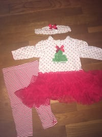 Christmas dress with tights and headband 9M Alexandria, 22310