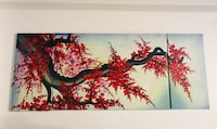 Red and black Japanese Cherry Blossom painting Los Angeles, 91406