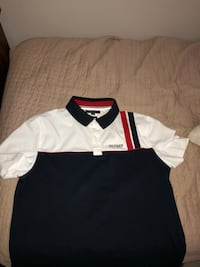 White and black polo shirt Vancouver, V5N 2H2