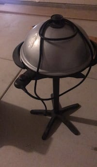 BBQ Grill - indoor and outdoor on pedestal with grease catcher
