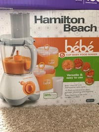 Baby food maker. Hamilton Beach blender. All-in-one! Centreville, 20121