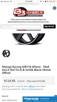 Motegi racing rims  Los Angeles, 90038