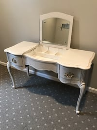 Antique Vanity with Flip Up Mirror Washington