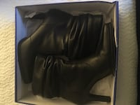 Black leather slouch booties 8 1/2 Baltimore, 21211