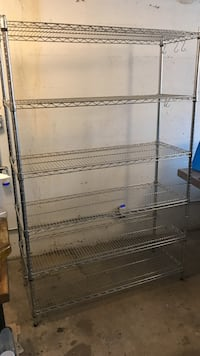 Chrome wire shelving rack