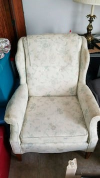 white and brown floral armchair Melbourne, 32935