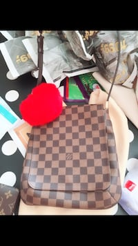damiere ebene Louis Vuitton crossbody bag