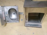 Two stainless steel sinks