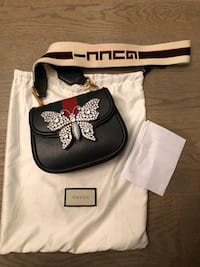 RARE Brand New GUCCI Linea Totem Crystal Butterfly Shoulder Bag Puslinch, N1H
