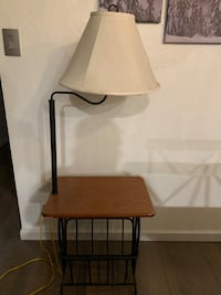 Table / Paper / Magazine Stand and Lamp