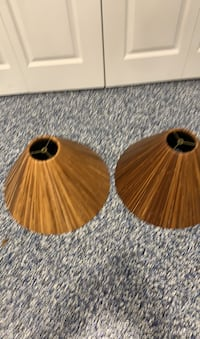2 lamp shades BAMBOO lampshades