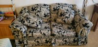 Gold/brown and black  floral fabric sofa Salem, 01970