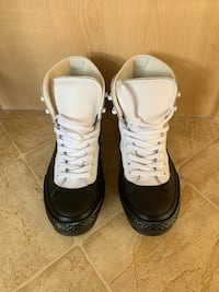 CONVERSE COUNTER CLIMATE WATERPROOF BLACK AND WHITE BOOTS