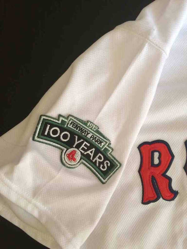 best service 8a5a2 23331 David Ortiz Boston Red Sox jersey with 100 year anniversary patch