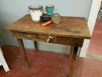 Extremely old primitive small table Heflin, 36264