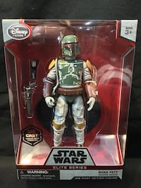 "Star Wars Disney Elite Series BOBA FETT 6"" DIE CAST - NO CAPE VARIANT - VERY RARE! - New & Sealed!"