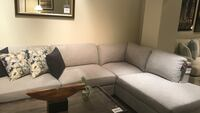 Sectional Sofa heather grey Right Side Chaise  New  2293 mi