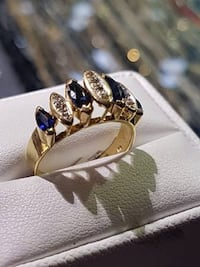 Sapphire Diamond Ring $650 New Westminster, V3M