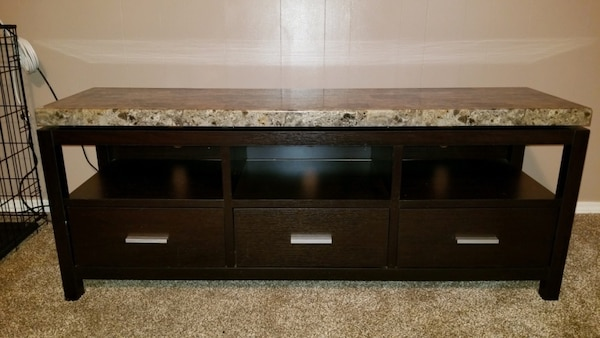 Brown Black Marble Matching Coffee Table Tv Stand Both In Great Condition