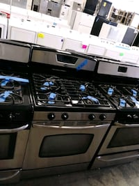 Amana stainless steel gas stoves