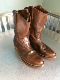 Pair of brown leather cowboy boots