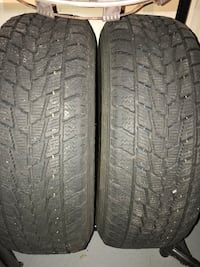 two winter TOYO tires lots of tread on them  195 65R 15