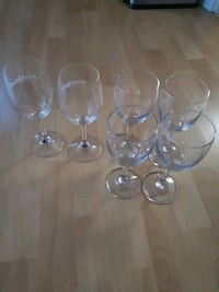 clear glass wine glasses and cups Markham, L3T 7X7