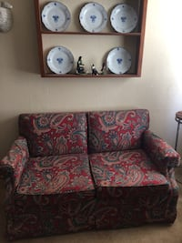 brown and red floral fabric sofa 328 mi
