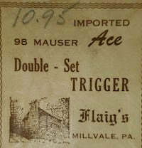 '98 Mauser double trigger