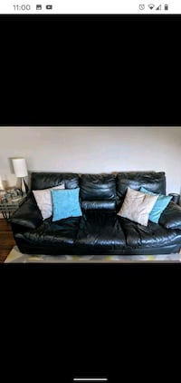 Matching leather couch and chair