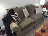 gray cushion loveseat