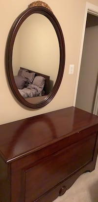 Brown wooden framed wall mirror Gaithersburg, 20878