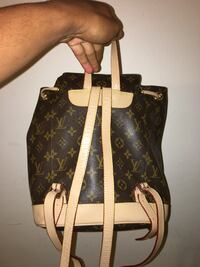 Black and yellow monogram canvas louis vuitton leather drawstring bag Fayetteville, 72701