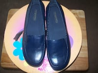 pair of black leather loafers Owings Mills
