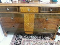 brown wooden 5-drawer chest Sterling, 20164